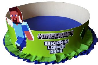 Centro de mesa 1 piso Minecraft