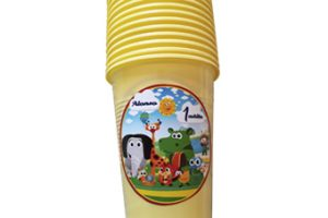 Vasos de color Baby tv